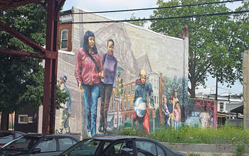 Mural in West Philadelphia. Copyright © 2005, Daaim Shabazz.
