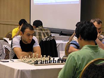 Varuzhan Akobian vs. Hikaru Nakamura. Copyright © 2006, Daaim Shabazz.
