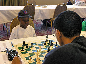 7-year old Joshua Colas in action.. Copyright © 2006, Daaim Shabazz.