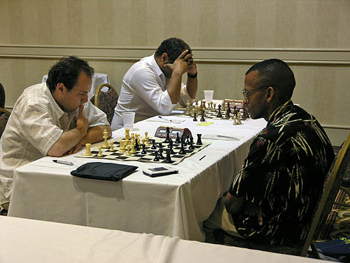 Stephen Muhammad watching Tate-Fressinet. Copyright © 2006, Daaim Shabazz.