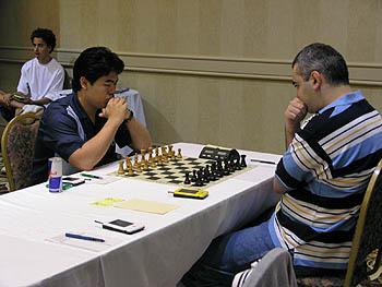 Hikaru Nakamura vs. Giorgi Kachieshvili. Copyright © 2006, Daaim Shabazz.