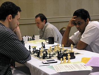 Kazim Gulamali beating GM Eugene Perelshteyn. Copyright © 2006, Daaim Shabazz.