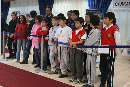 Turkish Children hoping their team can get in the win column.