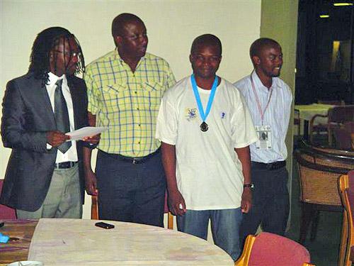FM Daniel Jere (Zambia) wins silver medal.
